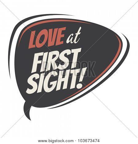love at first sight retro speech balloon
