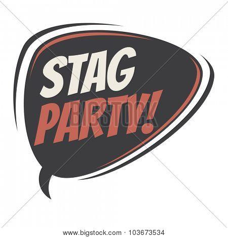 stag party retro speech bubble