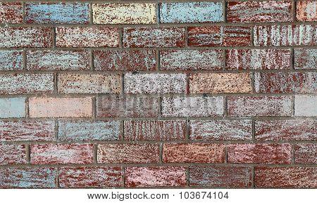 Chalk Painted Brick Wall