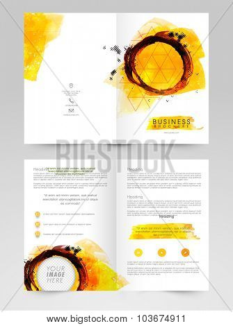 Creative abstract design decorated, Business Brochure, Template or Flyer with space to add images.