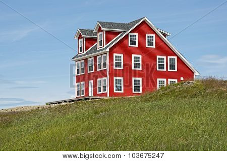 House On A Hill In Newfoundland
