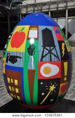 Display at The Faberge Big Egg Hunt in New York