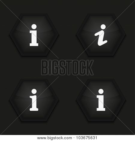Vector modern information mark icons set
