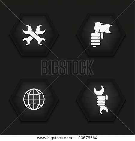 Vector modern labour day  icons set