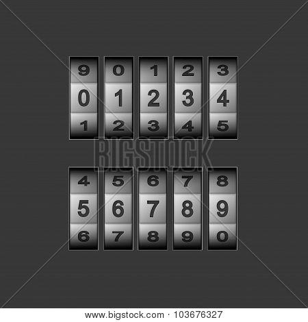 Vector modern combination number code set