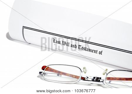 Last Will And Reading Glasses