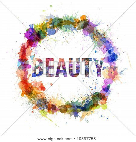 Beauty Concept, Watercolor Splashes As A Sign