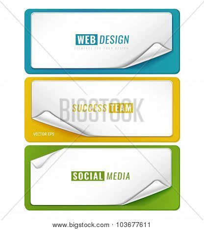 Set of 3 blank tag templates