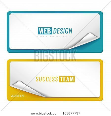 Set of 2 blank tag templates