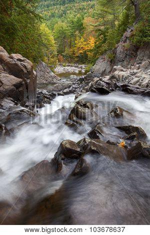 Season's Change On Split Rock Falls
