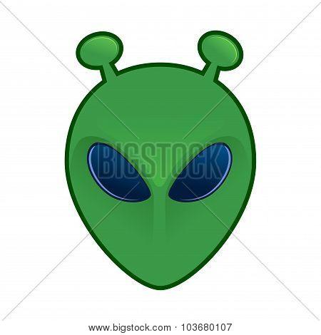 Green Alien Head