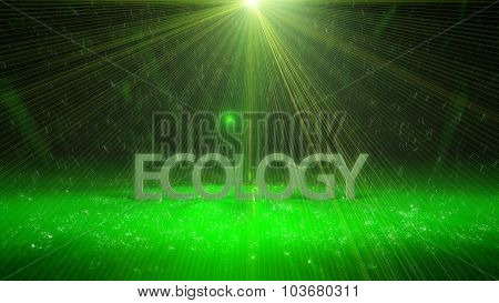 Futuristic Ecology Background Design With Lights