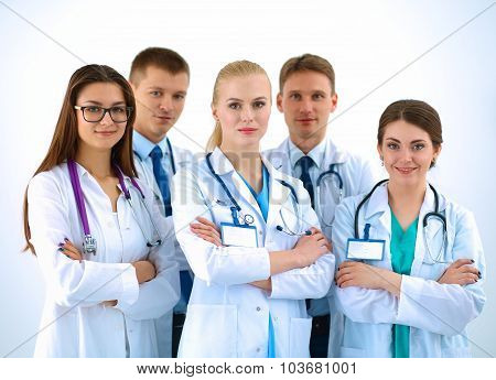 Portrait of a team of medical professionals