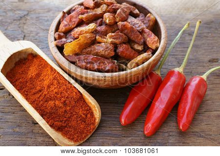 Chili Pods, Dried Chili Peppers And Powder