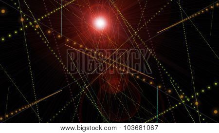 Futuristic Particle Stripe Background Design With Lights
