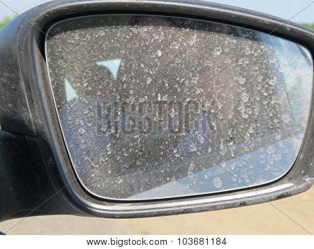 Dirty Automobile Mirror