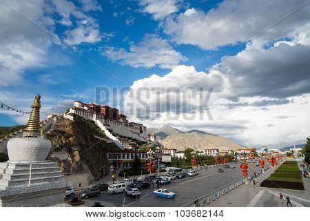 Potala palace in Lhasa, Tibet.