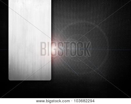 metal mesh with lighting background