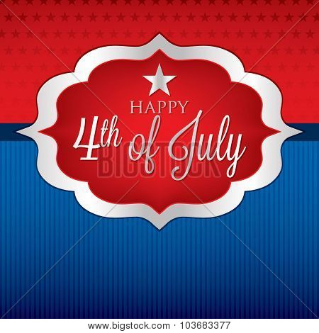 Shape Independence Day Card In Vector Format.