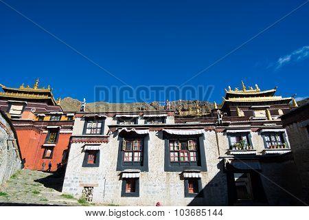 Tashilhunpo monastery in Shigatse, Tibet.