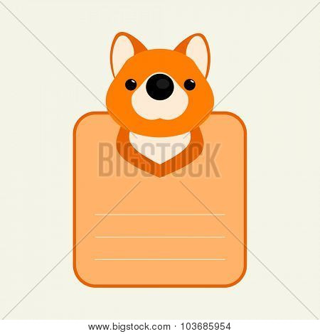 Animal banner with fox for you text