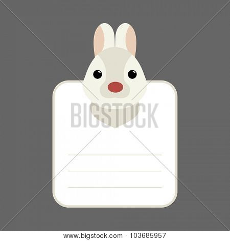 Animal banner with rabbit for you text