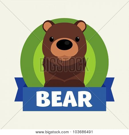 Little Bear. Vector illustrations