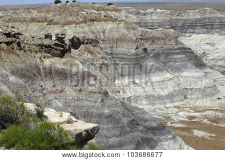 Painted Desert National Park Mineral Striations