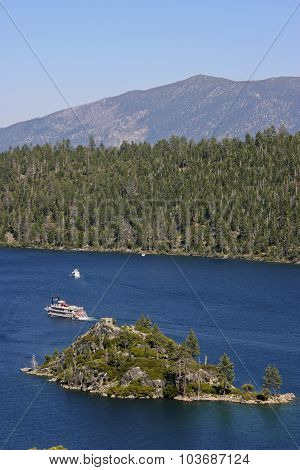 Tour Boats On Lake Tahoe In California