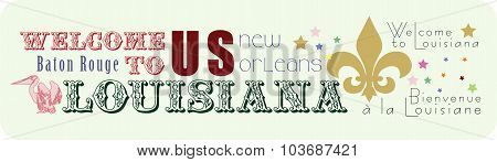 Sticker Welcome To Louisiana