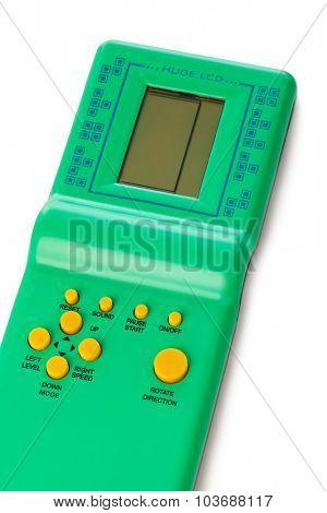Electronic tetris game isolated on white background
