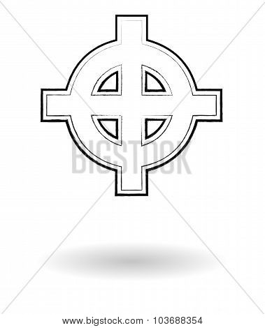 Celtic Cross Vector Sketch