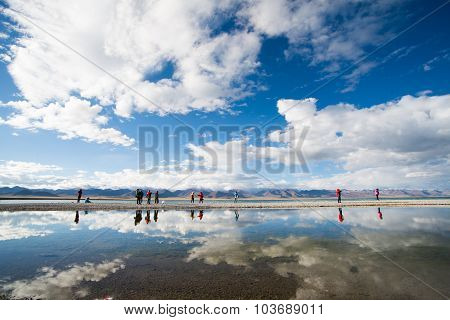 Namtso lake in Tibet, China.
