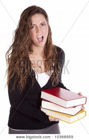 Holding Books And Screaming