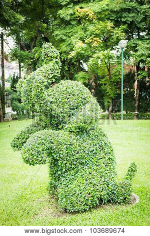 Animal Elephant Shaped Decorative Green Park