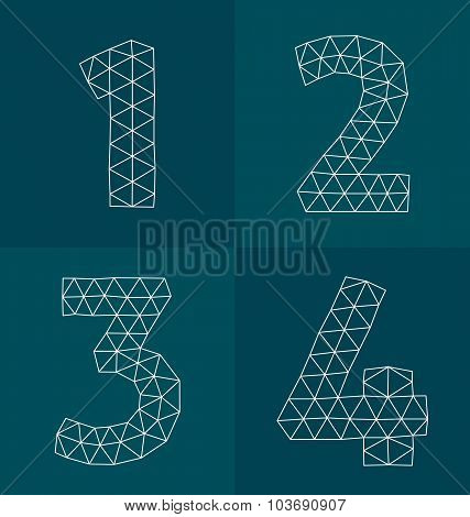 Polygonal Numbers 1-4