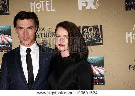LOS ANGELES - OCT 3:  Finn Wittrock, Sarah Roberts at the
