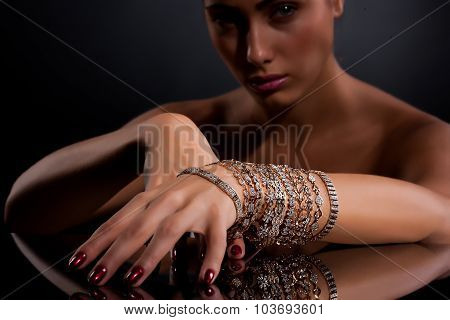Young Woman With Bracelets