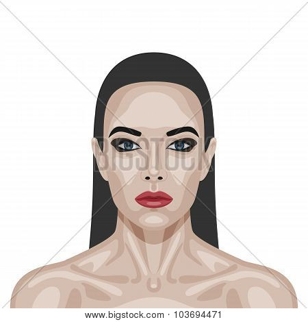 Fashion beauty brunette Woman with perfect Skin