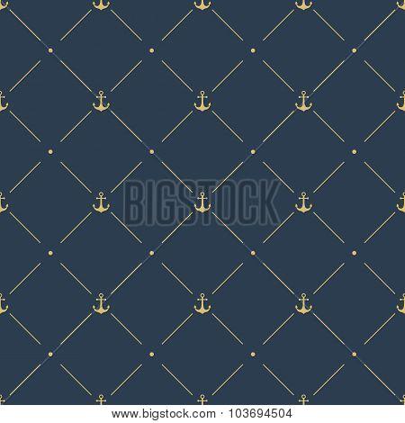 Marine Seamless Pattern Background