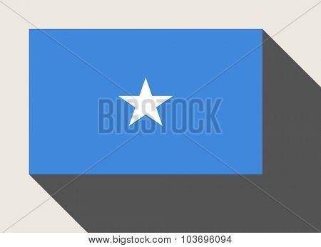 Somalia flag in flat web design style.