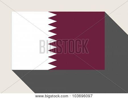 Qatar flag in flat web design style.
