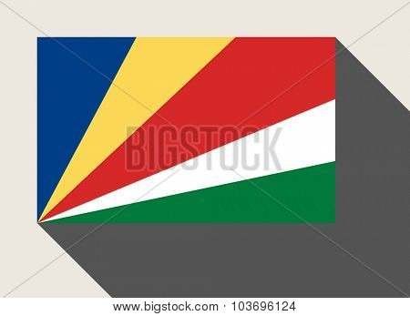 Seychelles flag in flat web design style.