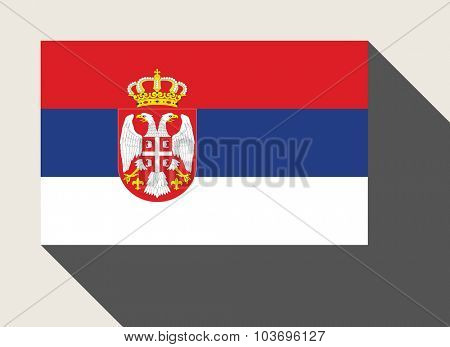Serbia flag in flat web design style.