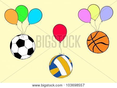 Balls on balloons