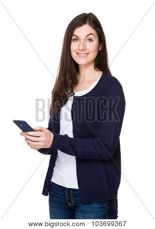 Beautiful woman use of the mobile phone