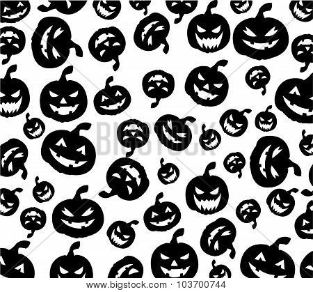 Seamless Halloween pumpkins background