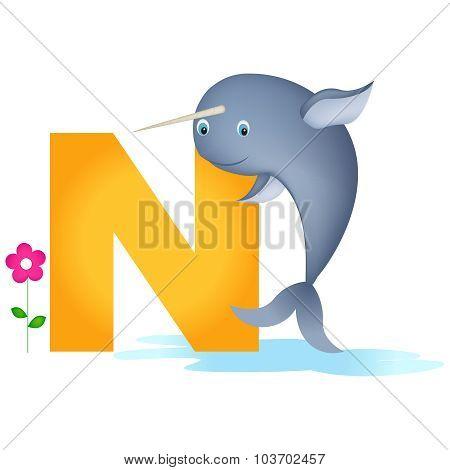 Animal Alphabet Letter N