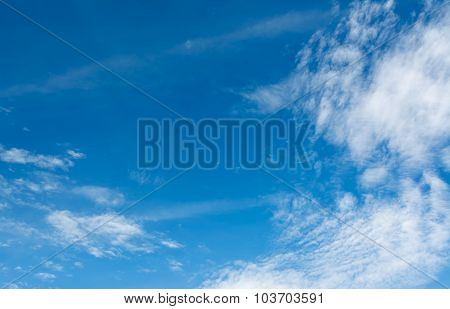 Image Of Clear Blue Sky On Day Time For Background Usage.