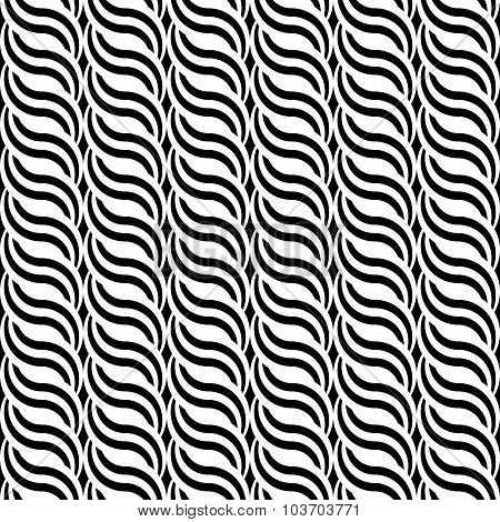 Design Seamless Monochrome Waving Pattern